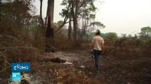 صورة ملتقطة من شاشة فرانس24 لفقرة ريبورتاج