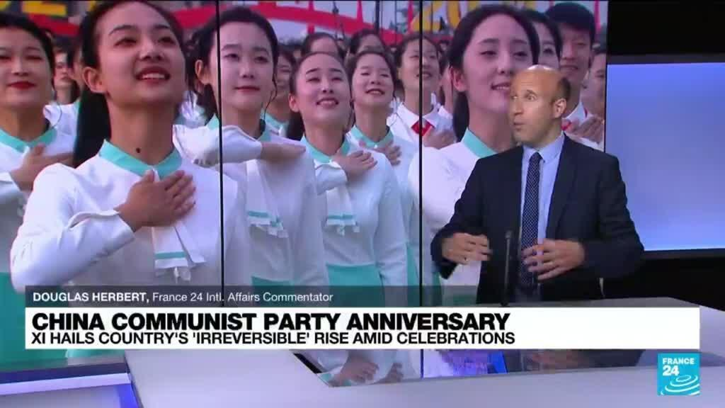 2021-07-01 11:01 Xi hails 'irreversible' rise of China at 100th birthday of Communist Party