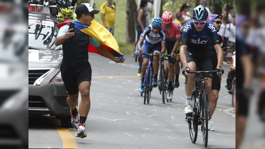 Christopher Froome (Team Sky) lideró durante un pequeño tramo el ascenso al Alto de Las Palmas durante la sexta etapa del Tour Colombia 2.1, carrera en la que finalizó en la posición 91 en la clasificación general.