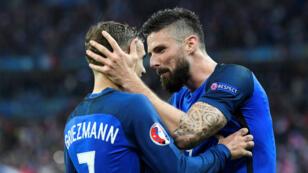 Griezmann et Giroud, le duo qui a envoyé la France défier l'Allemagne en demi-finale de l'Euro-2016.