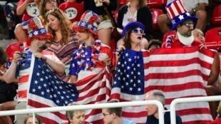 جماهير أمريكية في أولمبياد ريو في 7 آب/أغسطس 2016