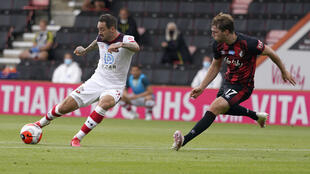 Southampton's Danny Ings helped secure victory at Bournemouth
