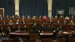 Impeachment hearings get under way in the US House of Representatives.