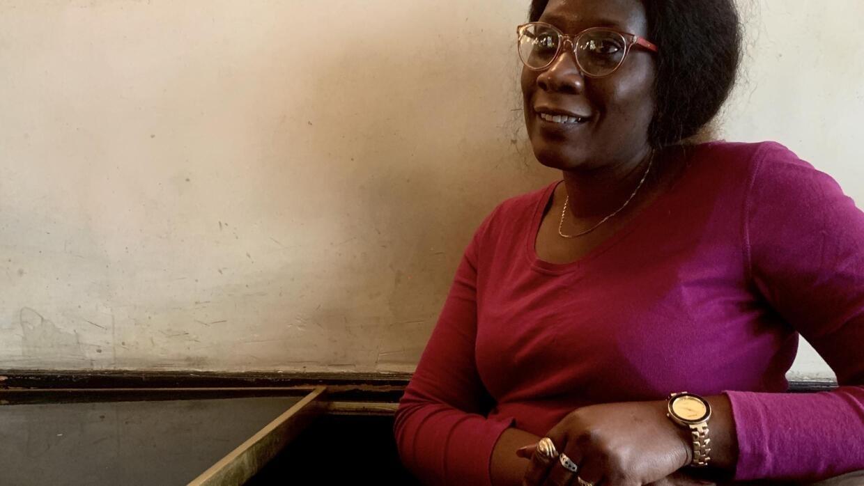 Fatoumata Tamba, militante sénégalaise à Paris, le 5 février 2020, pour la Journée internationale contre les mutilations génitales féminine.