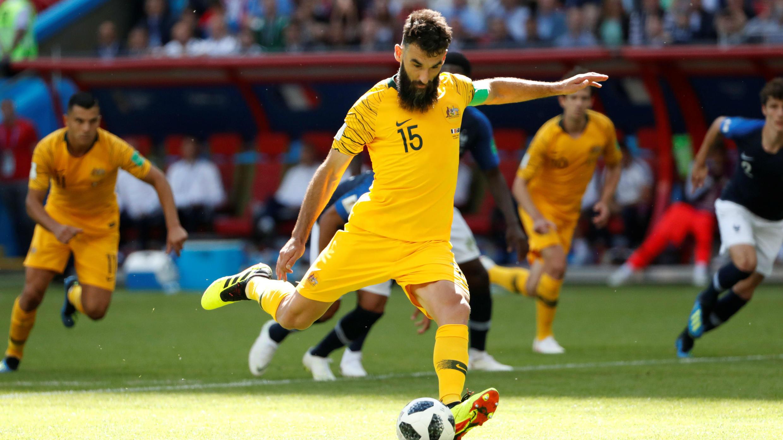 Mile Jedinak anotó el gol para Australia, quedando el marcador 2-1 a favor de los franceses.