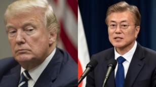 رئيس كوريا الجنوبية مون جاي-أن والرئيس الأمريكي دونالد ترامب