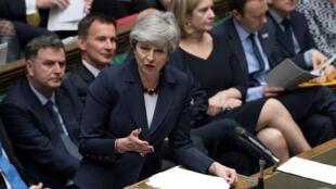 Theresa May, le 27 mars 2019, à la Chambre des communes à Londres.