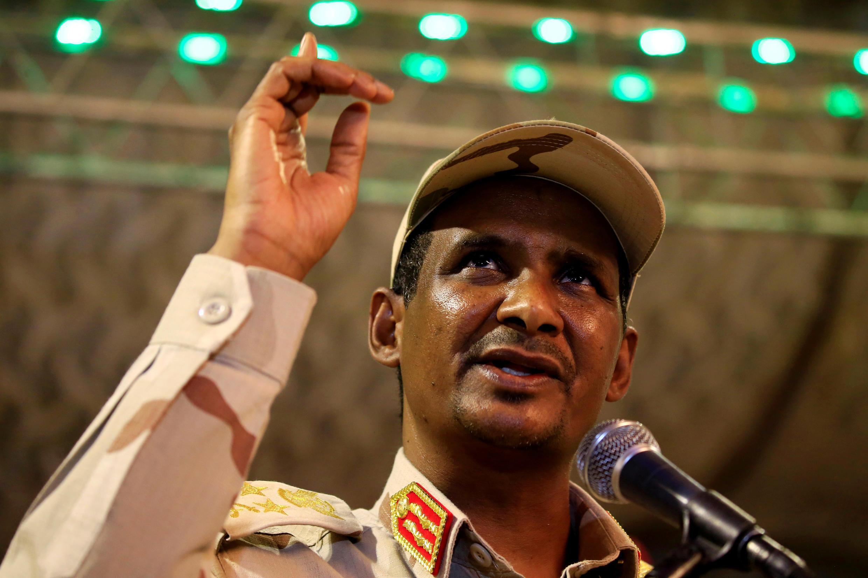 الفريق أول محمد حمدان دقلو نائب المجلس العسكري السوداني في الخرطوم 18 مايو/أيار 2019