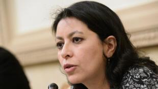 La sénatrice de Paris, Leila Aïchi, passée par EELV avant de rejoindre le Modem, le 4 avril 2015.