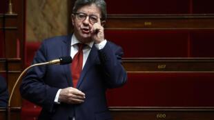Jean-Luc Mélenchon (LFI) à l'Assemblée nationale, le 17 avril 2020 à Paris