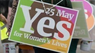 استفتاء تاريخي في إيرلندا حول تعديل دستوري يرفع الحظر عن الإجهاض 25 أيار/مايو 2018.