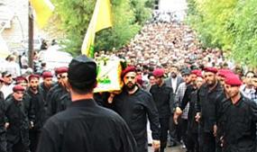 Les funérailles du commandant Abou Abbas. (Crédit photo : Al-Intiqad)