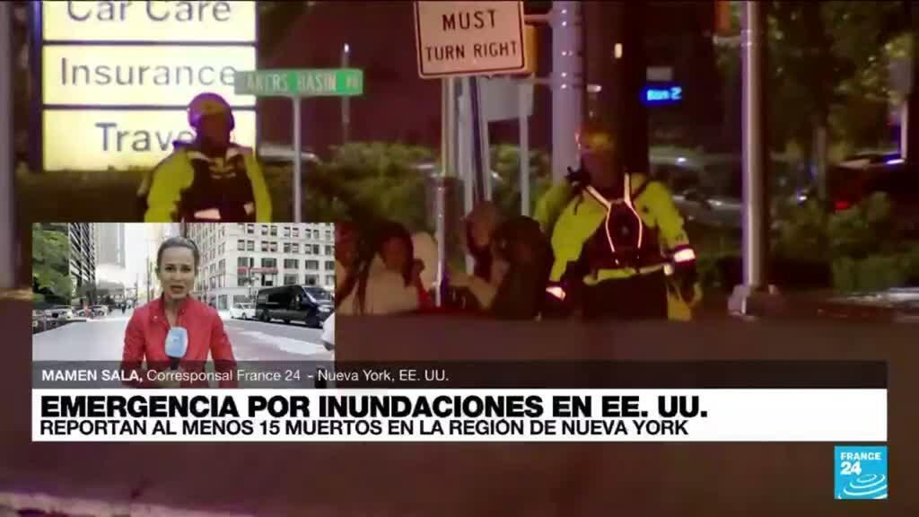 2021-09-02 19:02 Informe desde Nueva York: varias personas se encuentran atrapadas debido a las inundaciones