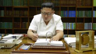 Le dirigeant de la Corée du Nord Kim Jong-Un, le 27 juillet 2017 à Pyongyang.