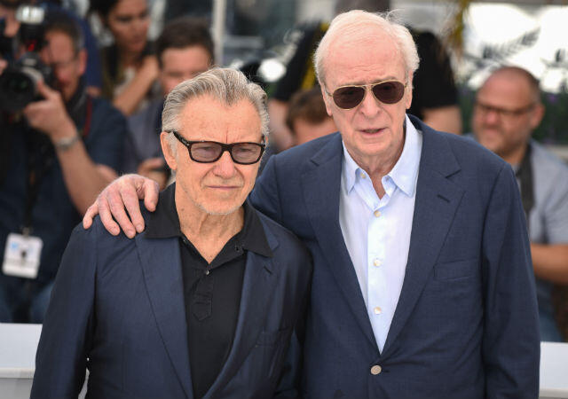 """Harvey Keitel (left) and Michael Caine at the photocall for Paolo Sorrentino's """"Youth""""."""