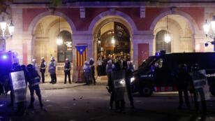 Le parlement de la Catalogne, à Barcelone, après la manifestation du 1er octobre.