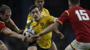 Le demi d'ouverture australien Bernard Foley, lors du match contre le Pays de Galles, le 10 octobre 2015 à Londres.