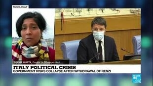 2021-01-14 09:41 Italy thrown into political crisis as Renzi sinks government