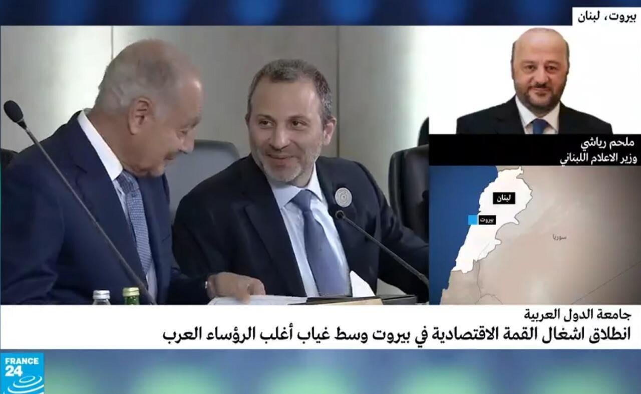 وزير الإعلام اللبناني في مقابلة حصرية مع فرانس 24. 2019/01/20.