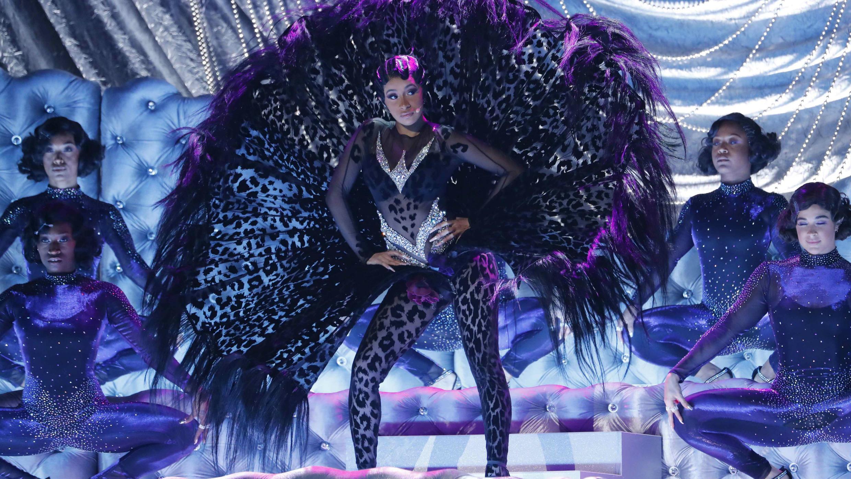 La rapera Cardi B, durante su interpretación en la gala 61 de los Grammy en Los Ángeles, Estados Unidos. 10 de febrero de 2019.