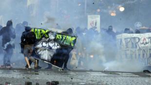 احتجاجات في باريس 1 مايو/أيار 2018