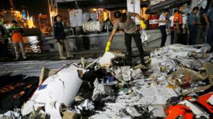 Des restes de l'avion de Lion Air qui s'est abîmé au large de l'Indonésie le 29octobre2018.