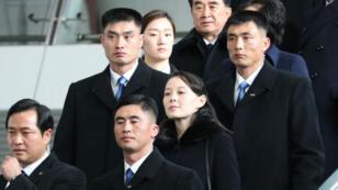 Kim Yo-jong à son arrivée à Séoul