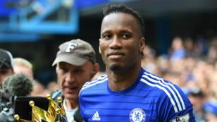 Didier Drogba après le sacre de Chelsea en Premier League, le 24 mai 2015