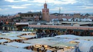 مدينة مراكش، جنوب المغرب.