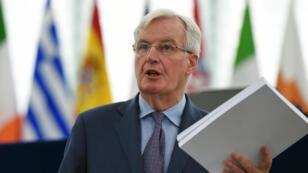 Le négociateur européen chargé du Brexit, Michel Barnier, au Parlement européen de Strasbourg, le 13 mars 2019.