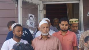 Des fidèles de la mosquée Al-Furqan Jame Masjid se sont rassemblés, dimanche 14 août, dans le Queens, à New York pour réclamer justice après le meurtre d'un de leurs imams.