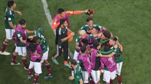 Superbe performance du Mexique, vainqueur face à l'Allemagne.
