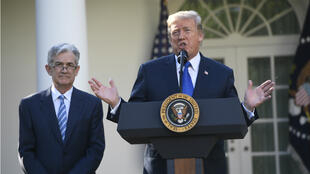 Le président Donald Trump a annoncé la nomination de Jerome Powell à la tête de la Réserve fédérale dans la roseraie de la Maison blanche le 2 novembre 2017.