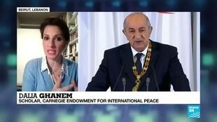 2019-12-19 21:13 Algeria's Tebboune will 'difficultly' bring people together, scholard Dalia Ghanem says