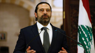 El primer ministro del Líbano, Saad Hariri, habla durante una rueda de prensa en Beirut, Líbano, el 18 de octubre de 2019.