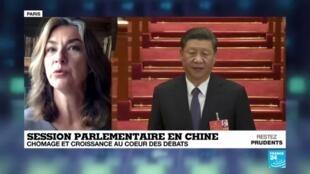 """2020-05-22 09:03 Session parlementaire en Chine : Pékin salue la """"grande muraille de solidarité"""" face au Covid-19"""