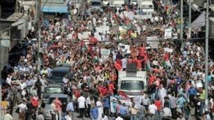 تظاهرة في عمان ضد اتفاق الغاز مع إسرائيل الجمعة 30 أيلول/سبتمبر 2016