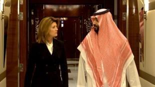 ولي العهد السعودي الأمير محمد بن سلمان في مقابلة مع قناة سي بي سي. 29 سبتمبر/أيلول 2019.