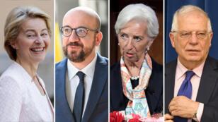 Imagen compuesta con los rostros de los nominados a presidir los principales instituciones de la Unión Europea.