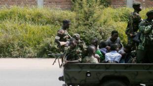 شاحنة عسكرية في بوجومبورا عاصمة بوروندي 11 كانون الأول/ديسمبر 2015
