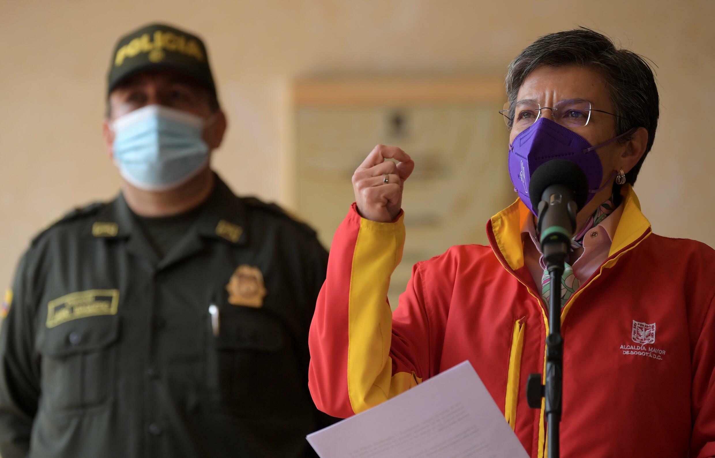 La alcaldesa de Bogotá Claudia López (D), el 4 de agosto de 2021 en la capital colombiana