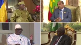 Idriss Déby, Mohamed Ould Abde,l Aziz Ibrahim Boubacar Keïta et Moussa Faki Mahamat répondent à France 24 en marge du sommet de l'UA.