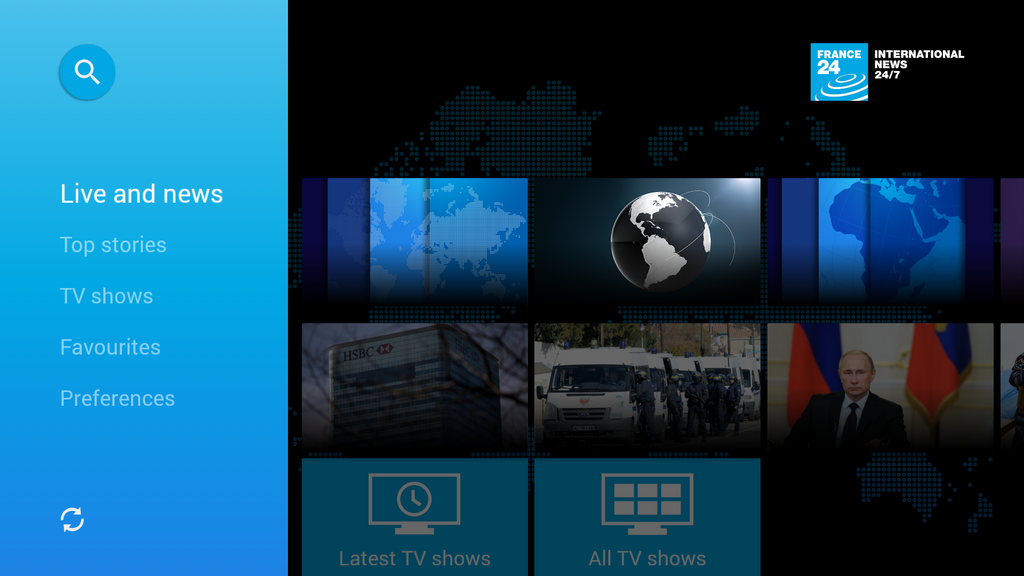 France 24 launches a new app for Android TV