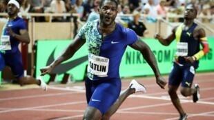 L'Américain Justin Gatlin, vainqueur du 100 m au meeting de Monaco, le 12 juillet 2019