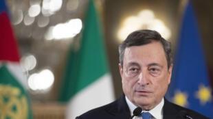 Mario Draghi au Palais Quirinal à Rome, le 3 février 2021