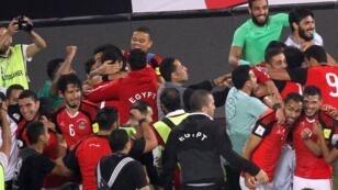 فرحة المصريين بتأهل مصر لكأس العالم 2018 بروسيا. 2017/10/09.