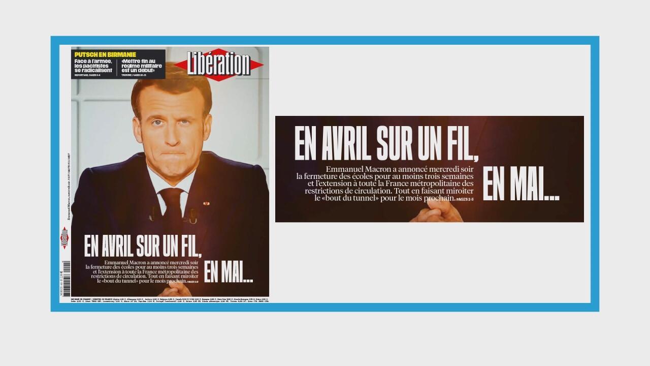 Le président Macron annonce un troisième confinement national
