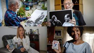 De haut en bas et de gauche à droite : Alejandro Ferras Pellicer, Lourdes Garcés, Vladimiro Roca, Ana Fidelia Quiros.