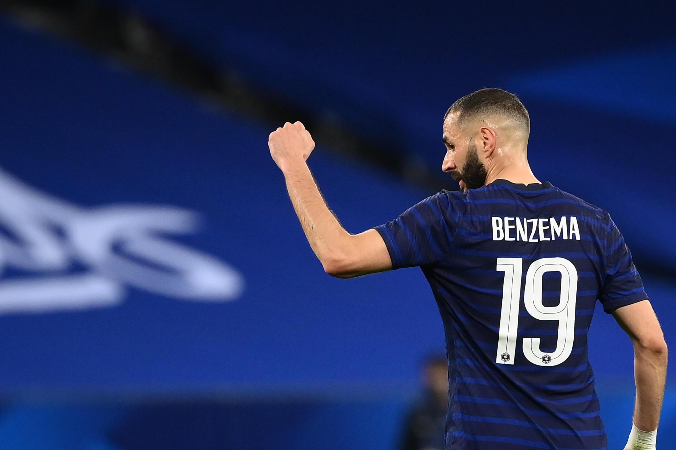 L'attaquant français Karim Benzema lors du match amical contre le Pays de Galles, à Nice, le 2 juin 2021