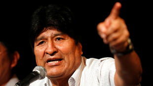 Former Bolivian president Evo Morales during a press conference in Buenos Aires, Argentina, on December 17, 2019.